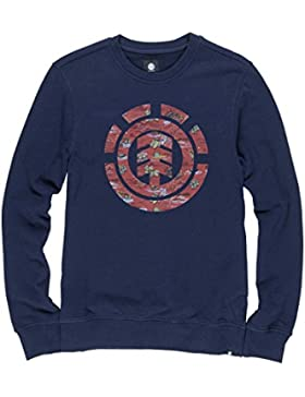 Element Uomo Logo Fill Felpa/Pullover Taglia: M Colore: Charcoal Heather