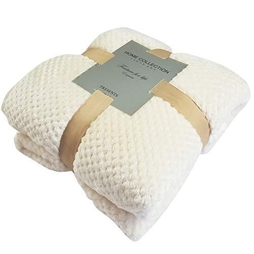 PET SPPTIES Hundedecke Katzendecke Super Softe Warme und Weiche Decke für Haustier PS051 (70x100cm, White) -