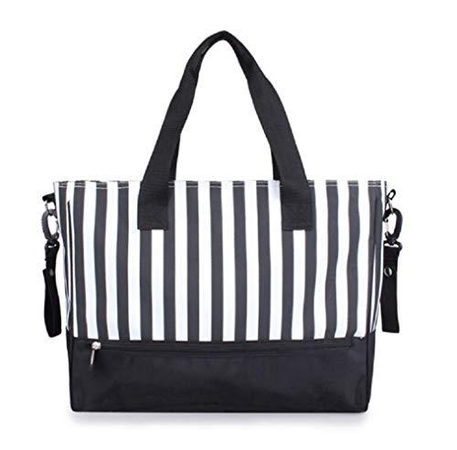 Yter Multifunktions-Mumien-Tasche, Handtaschen, großes Fassungsvermögen, gestreift, Baby-Wickeltasche