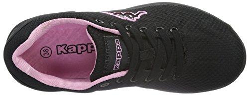 Kappa Damen Trust Sneakers Schwarz (1121 black/rosé)