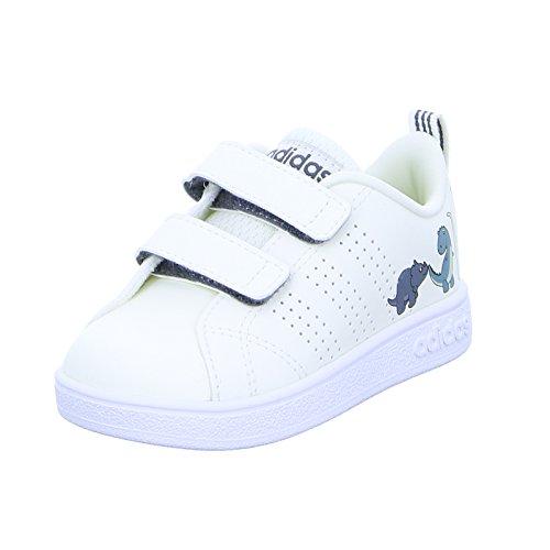 adidas Vs Advantage Clean Cmf Inf, Scarpe da Tennis Unisex-Bambini, Bianco Clowhi/Onix, 22 EU