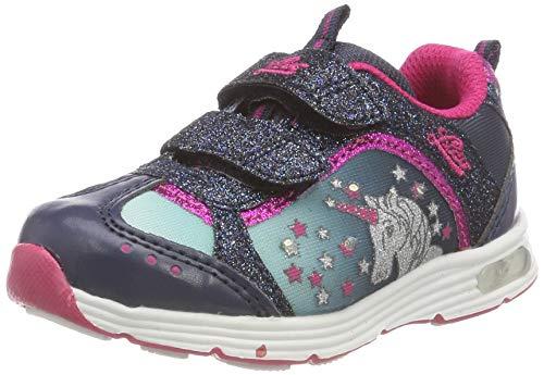 Lico Mädchen Unicorn V Blinky Sneaker, Blau Marine/Tuerkis/Pink, 26 EU