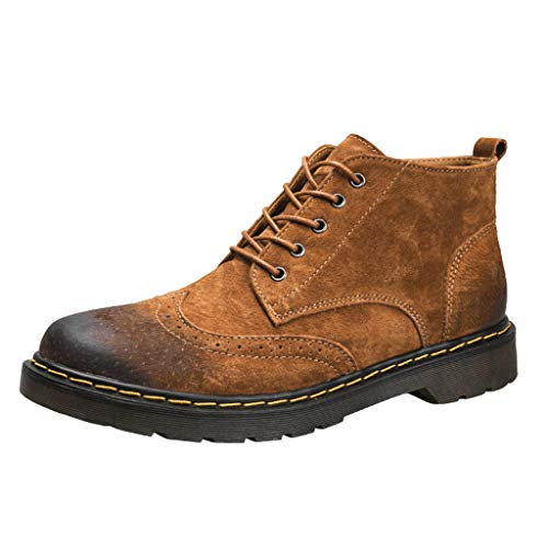 Uomo Stivali Chelsea, MEIbax Stivali Vintage Stivaletti Boots Scarpe Antinfortunistiche Vintage Chelsea Stivali Scamosciati Uomo Stivaletti