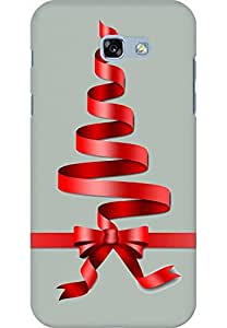 AMEZ designer printed 3d premium high quality back case cover printed hard case cover for Samsung Galaxy A7 (2017) (Cristmas Gift Ash Grey)