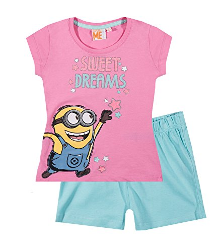 Minions Despicable Me Chicas Pijama mangas cortas – fucsia