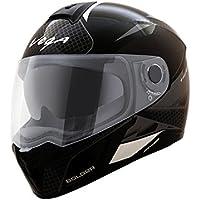 Vega Ryker Bolder Full Face Helmet (Dull Black/Silver, M)