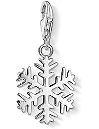 Thomas Sabo Mujer-Colgante-Charm Copo de nieve Charm Club Plata de ley 925 0281-001-12