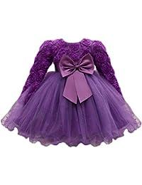 ❤️ Amlaiworld Falda niña Flor Vestido de princesa de bebé Niñas Vestido de boda de fiesta de tutú Vestido de dama de honor de bebé Pompa Vestido Fiesta de cumpleaños Boda Vestir Falda Bebé recien nacido 0 - 18 Mes