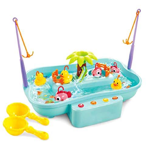 Ysoom Baby Badespielzeug, Wasserspielzeug, Baby Magnetische Enten Tiermodell Angelnspiel Wasserspielzeug für 3 4 5 Jährige Kind Baby Kleinkind Jungen Mädchen Licht und Musik (Badewanne Spielzeug Für 4 Jährige Mädchen)
