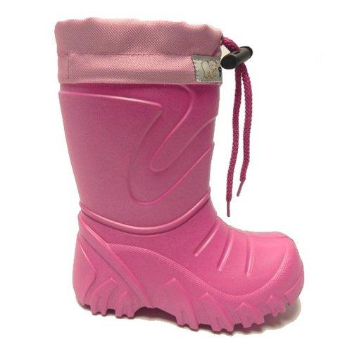 LEMIGO EVA federleichte Kinder Gummistiefel mit Stulpe gefüttert GRIZZLY Pink