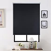 SHINY HOME® Persiana Enrollable Cortinas Estor opaco 80_x_175_cm - Negro