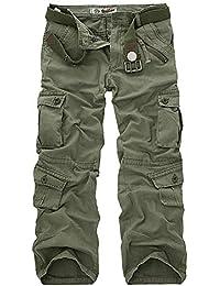 Herren Vintage Camouflage Cargohose Arbeitshose Outdoor Freizeithose  Sweatpants Lang Chino Stoff Mode Marken Hose Jogging Pants 349ce6f25b