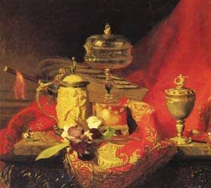 GFM Painting Handmade Oil Painting Reproductions of (French) 1830 to 1901 A Still Life,Oil Painting by Alexandre Blaise Desgoffe - 12 By 16 inches