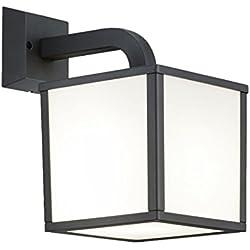 Trio Leuchten LED-Aussen-Wandleuchte Cuganbo Aluminiumguss, anthrazit, Schirm Acryl weiß 221560142