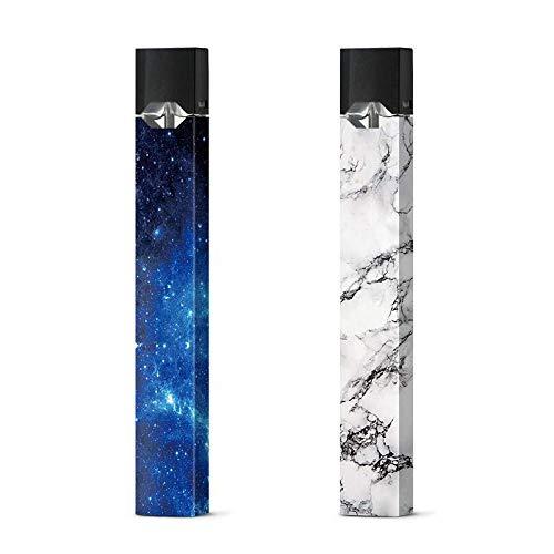 Juul Skin Sticker, Marmor- und Blaues Galaxie-Muster, Vinyl-Aufkleber, 2 Stück (Galaxy Vinyl-aufkleber)