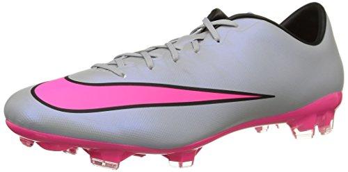 Nike Mercurial Veloce II FG, Herren Fußballschuhe, Grau (Wolf Grey/Hyper Pink-Black-Black 060), 44.5 EU
