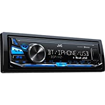 JVC KD-X341BT Bluetooth Negro receptor multimedia para coche - Radio para coche (4.0 canales, FM,LW,MW, 87,5 - 108 MHz, 153 - 279 kHz, MOS-FET, 2 líneas)