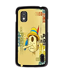 Fuson Meaningful Text Back Case Cover for LG GOOGLE NEXUS 4 - D3979