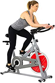 Sunny Health & Fitness Unisex Adult SF-B1001S Indoor Cycling Bike - Silver, One