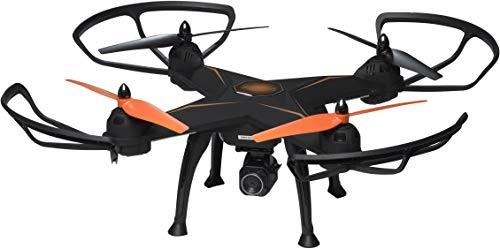 Denver DCH-640 Drohne mit 4 Rotoren, 2 Megapixel HD-Kamera, 2000 mAh Akku, Schwarz/Orange