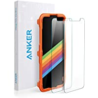 Anker iPhone X Screen Protector for Apple iPhone X / 10 (2017) with DoubleDefence Technology, [Case Friendly] [2 PACK] Tempered Glass with Alignment Frame for Apple iPhone 10