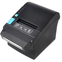 80MM Direct Thermal Receipt POS Printer MUNBYN With US Dollar Currency Detector For Restaurant, Shop, Home Business white color ESC/POS