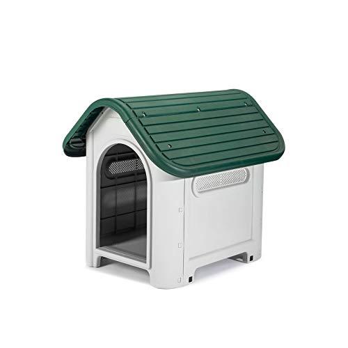 Gardiun KZT1005 - Caseta Perro Kira Resina Beige/Verde