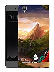 "Humor Gang Far Away CastlePrinted Designer Mobile Back Cover For ""Oppo F1"" (3D, Matte Finish, Premium Quality, Protective Snap On Slim Hard Phone Case, Multi Color)"