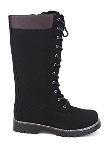 Cendriyon, Botte Montante CAMPERS Noire Chaussures Femme Noir