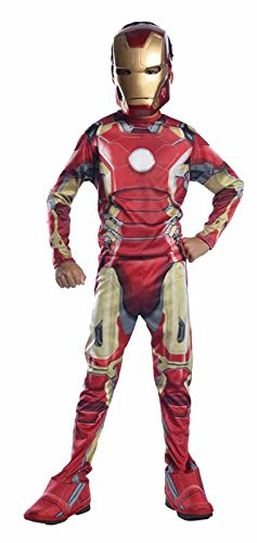 Kid Man Kostüme Iron (Marvel – i-610436l – Kinder Kostüm Kind – Classic Avengers Iron Man Mark 17–2 – Größe: Large)