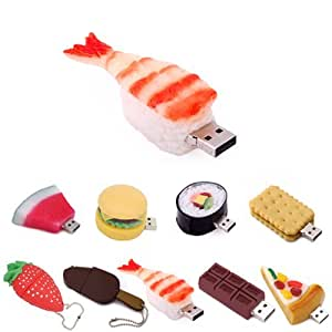 kootion cl usb en forme d 39 aliment 8g shrimp sushi informatique. Black Bedroom Furniture Sets. Home Design Ideas