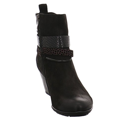 Marco Tozzi Premio Damen 25375 Kurzschaft Stiefel Black Antic Combi