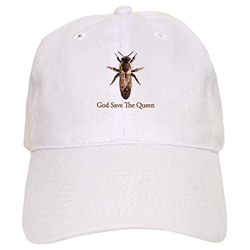 guolinadeou God Save The Queen (Bee) - Baseball Cap with Adjustable Closure, Unique Printed Baseball Hat