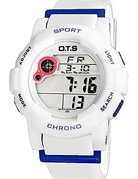 Electronic watch wasserdicht night light alarm multi-funktion outdoor sports-E