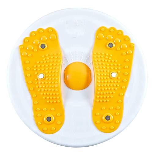 JHHXW Tanz drehen Board Twister, schlanke Bauchmuskel Stimulator Taille Trainer Weight Loss Abnehmen Maschine, Trainingsgeräte für Zuhause,Yellow - Balance-stimulator