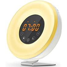 VOYOMO Wake Up Licht Wecker, Lichtwecker Mit FM Radio U0026  Sonnenaufgangssimulator, Smart Snooze Touch