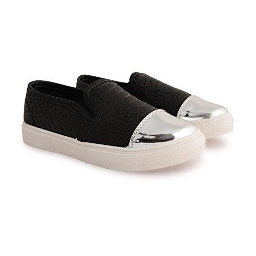 Footwear Sensation ,  Unisex Kinder Kurzschaft Stiefel Schwarz / Schlange