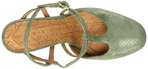 Chie Mihara Renne, Scarpe Col Tacco con Cinturino a T Donna Vert (Perla Celadon)