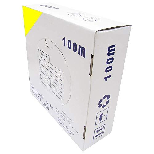 Cablematic Spool UTP Cat6 Kabel 24AWG CCA Rigid Gelb (100m) -