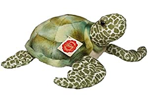 Hermann Teddy Collection- Tortuga Peluche, Color Verde, 22 cm (T90113 6)