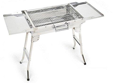 BBQER-A Edelstahl Kohle Barbecue Grill, Portable Folding BBQ Ofen mit Iron Mesh für Outdoor Camping, Party, drei Größen, M -