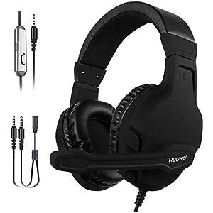 NUBWO Gaming Headset für Xbox one PS4 PC, Surround Sound Mikrofon mit Noise Cancelling und Lautstärkeregler Gaming Kopfhörer für Nintendo Switch, Phone, Laptop