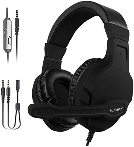 NUBWO Gaming Headset für Xbox one PS4 PC, Surround Sound Mikrofon mit Noise Cancelling und Lautstärkeregler Gaming Kopfhörer für Nintendo Switch, Phone, Laptop