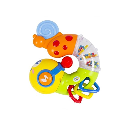 Early Education 6 Month + Olds Baby musical Twisting Worm Rattle Toy for Children & Kids Boys and Girls 2