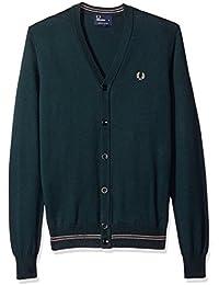 Cardigan Fred Perry verde mod. K9518 K9518