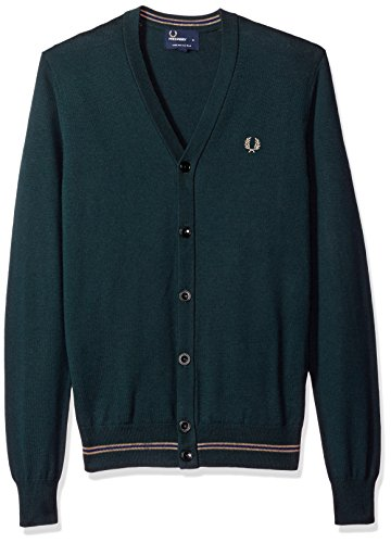 Cardigan Fred Perry verde mod. K9518Cardigan Fred Perry verde mod. K9518 K9518