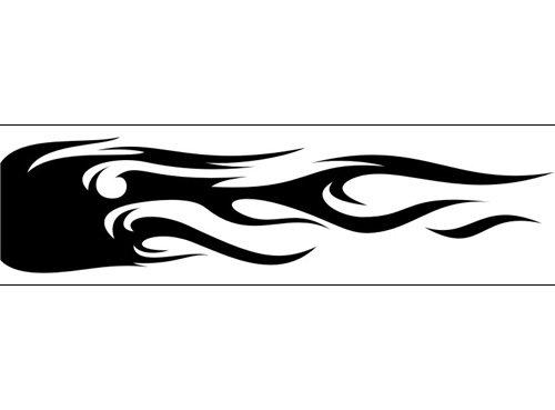 Airbrush Schablone Flammen C177 -