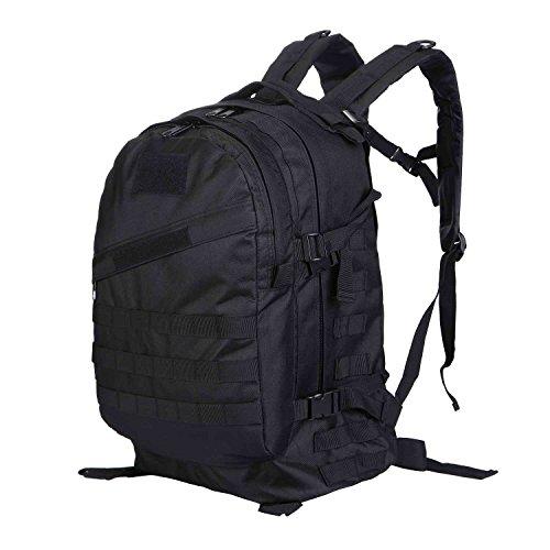 d5a2bf9115258 3D Military Tactical Rucksäcke Outdoor Rucksack Hohe Kapazität Wasserdicht  Pack für Camping Wandern Trekking Schwarz
