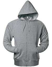 KBK444 Full Zip Hooded Sweatshirt Jacke Sweatjacke, Farbe:Oxford Grey;Größen:XL