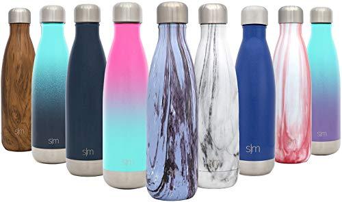 Simple Modern 750ml Wave Wasserflasche - Trinkflasche Vakuum Isolierte Doppelwandige 18/8 Edelstahl - Hydro Camelbak Swell Bottle - Reisebecher, Flasche, Sporttrinkflasche - Marmorierte Pflaume